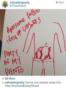 tattoo party in my pants