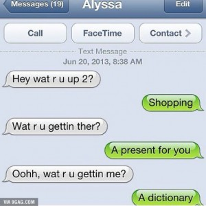 text present dictionary