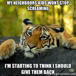 tiger kidswontstopscreaming
