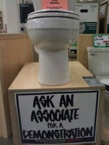 toilet demonstration
