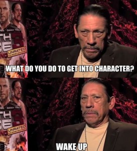 trejo into character