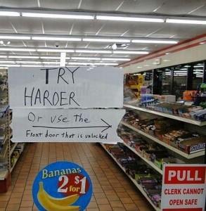 try harder door