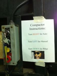 turndownforwhat trash compactor