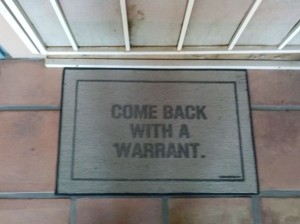 warrant welcome mat